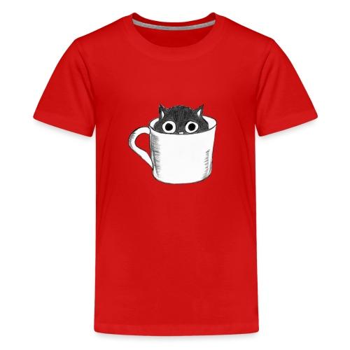 Katze in Tasse - Teenager Premium T-Shirt