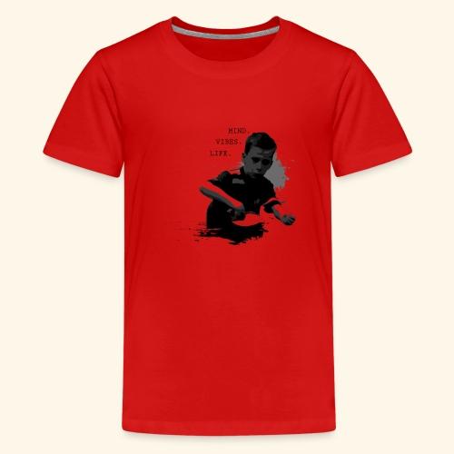 Seien Sie immer in allem Tischtennis positiv - Teenager Premium T-Shirt