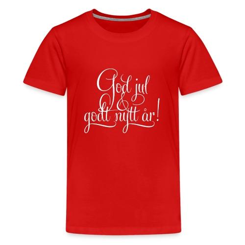 God jul & godt nytt år! - detnorskeplagg.no - Premium T-skjorte for tenåringer