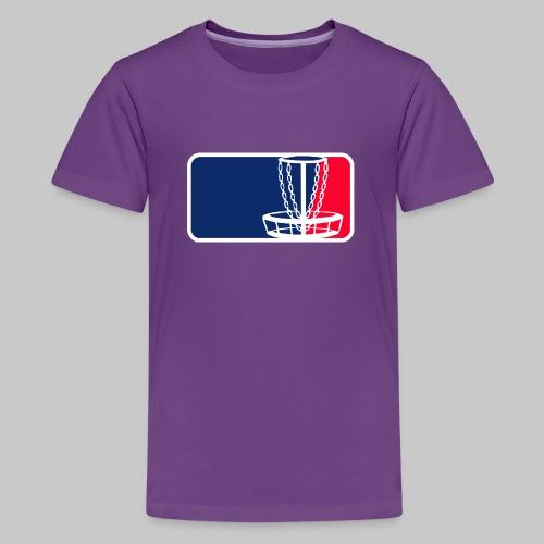 Disc golf - Teinien premium t-paita