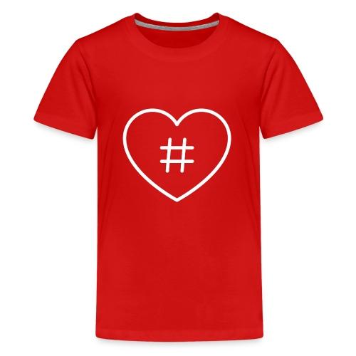 Hashtag Herz - Teenager Premium T-Shirt