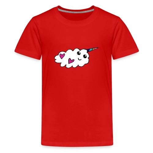 Nuage licorne Kawaii - T-shirt Premium Ado