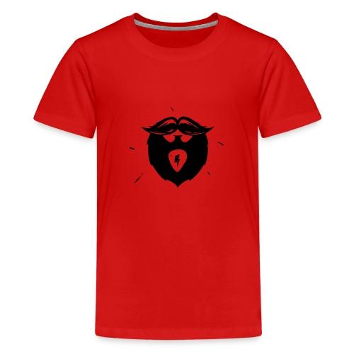 Studio Brewdio Logo Black Just Beard - Teenage Premium T-Shirt