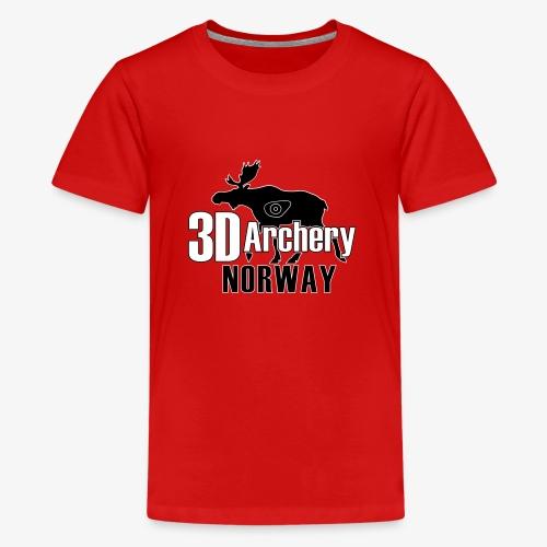 logo 3darchery no - Premium T-skjorte for tenåringer