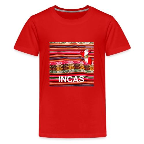 Telar inca Mapa del Peru - Teenager Premium T-Shirt