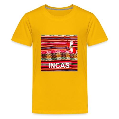 Telar inca Mapa del Peru - Teenage Premium T-Shirt