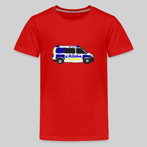 poliisiauto - Teinien premium t-paita