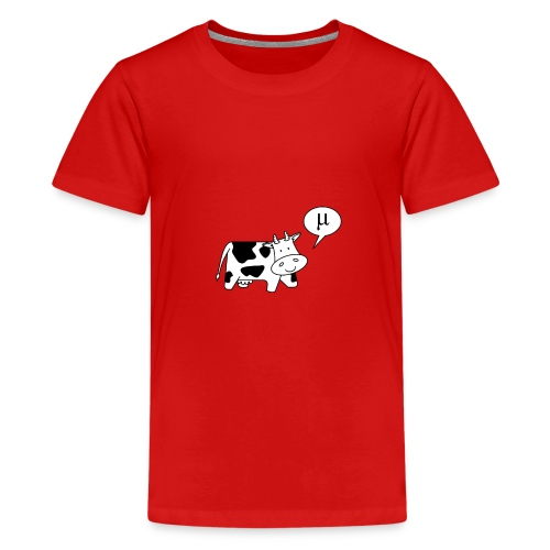 The Cow says Mu - Teenage Premium T-Shirt