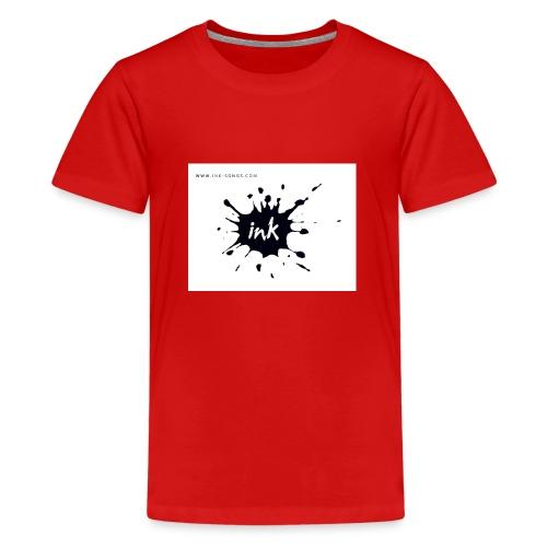 Ink Logo and website - Teenage Premium T-Shirt