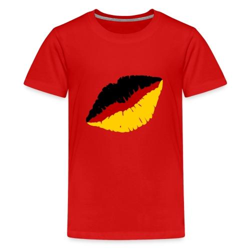 Deutschland Lippen Motiv - Teenager Premium T-Shirt