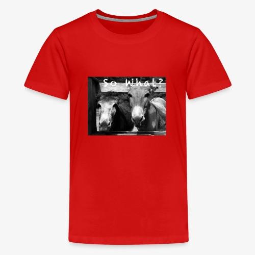 So What? Donkey - Teenager Premium T-Shirt