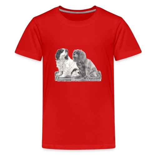 Cavalier King Charles spaniels - Teenager premium T-shirt