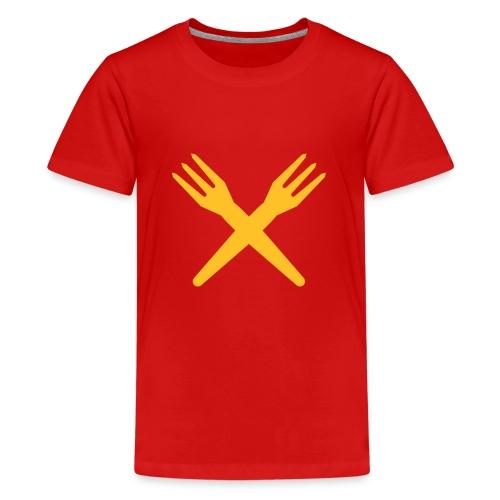 gekruiste frietvorken - trident - T-shirt Premium Ado