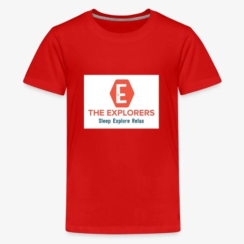 logo white background - Teenage Premium T-Shirt