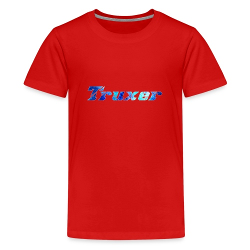 Truxer Name with Sick Blue - Teenage Premium T-Shirt