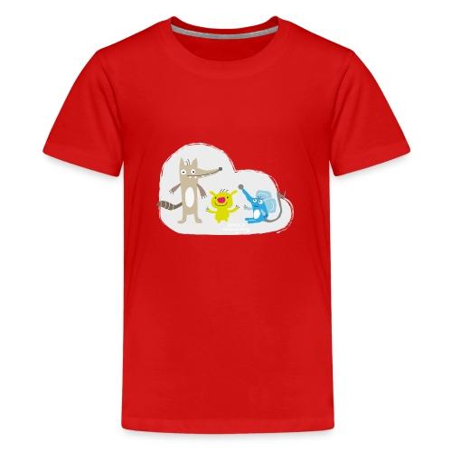 Froehliche Tierchen - Teenager Premium T-Shirt