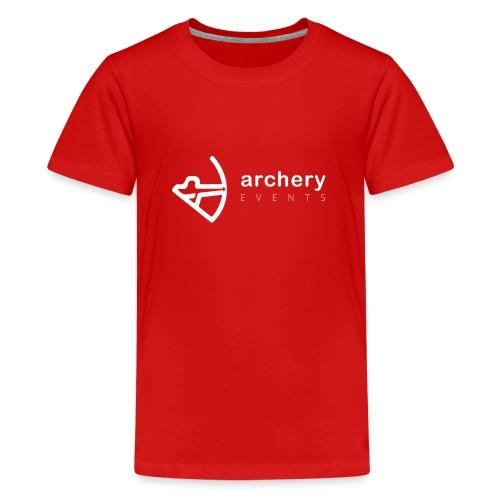 Archery Events Logo white - Teenager Premium T-Shirt