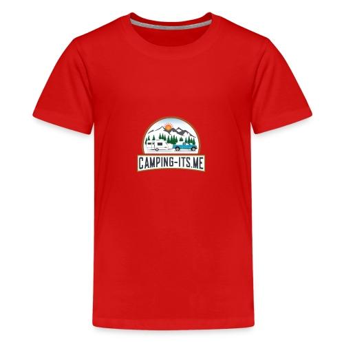 Camping its me 3 TRANSPARENT BG - Teenager Premium T-Shirt