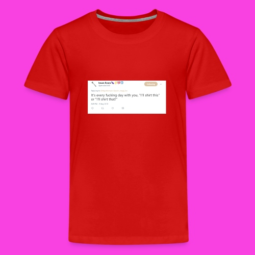 Ieuan Tweet - Teenage Premium T-Shirt
