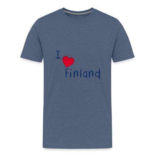 I Love Finland - Teinien premium t-paita