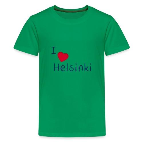 I Love Helsinki - Teinien premium t-paita