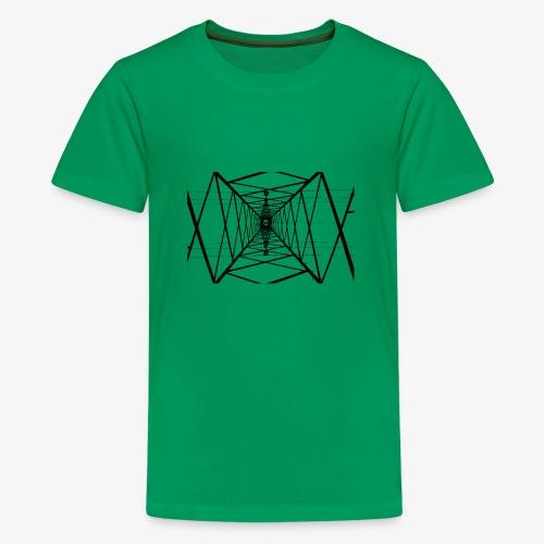 Quermast V2 Schwarz - Teenager Premium T-Shirt