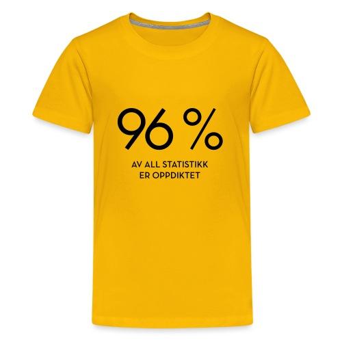 Statistikk-sprøyt (fra Det norske plagg) - Premium T-skjorte for tenåringer