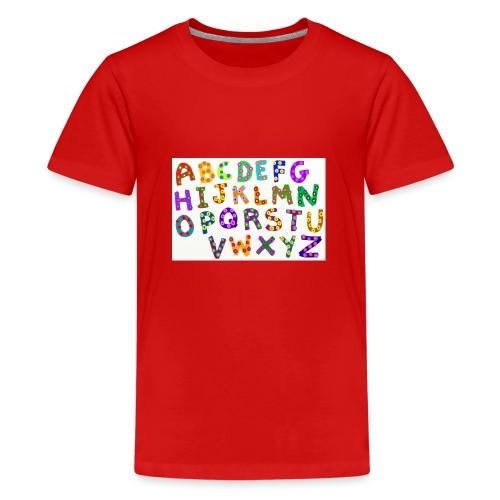 alphabet - Teenager Premium T-Shirt