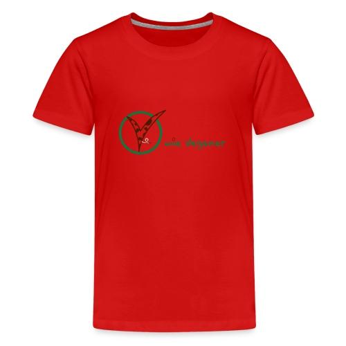 V wie Veganer - Teenager Premium T-Shirt