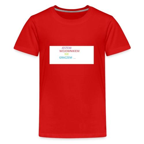 kim jesteś - Koszulka młodzieżowa Premium