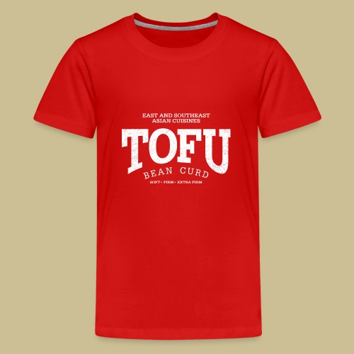 Tofu (white oldstyle) - Teenager Premium T-Shirt