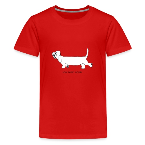 Love basset hounds - Teenager premium T-shirt