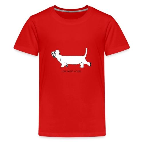 Love basset hounds - Teenager premium T-shirt