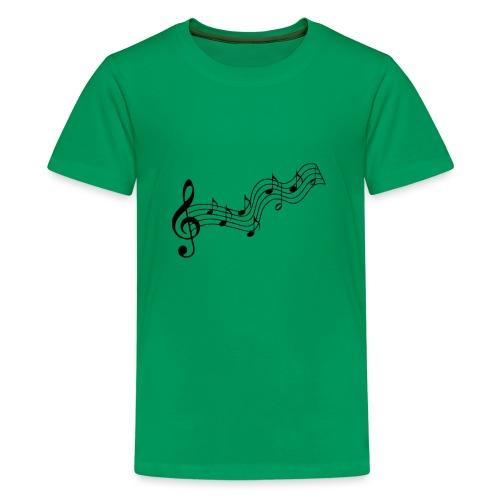 Musiknoten - Teenager Premium T-Shirt