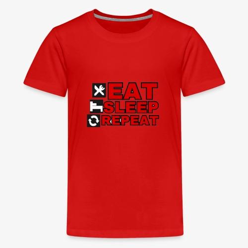 EAT SLEEP REPEAT T-SHIRT GOOD QUALITY. - Teenage Premium T-Shirt