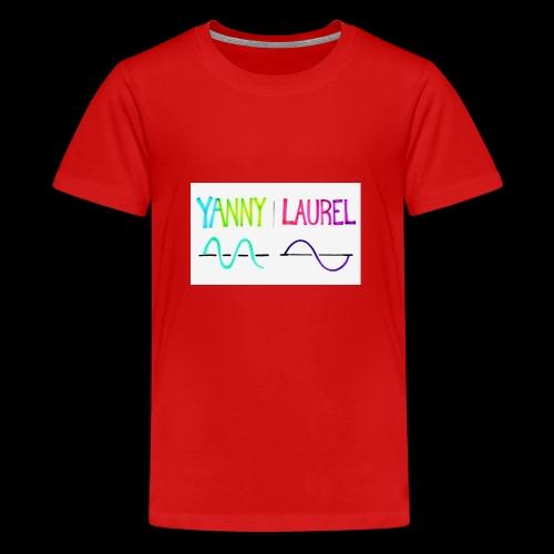 yanny laurel science - Teenage Premium T-Shirt