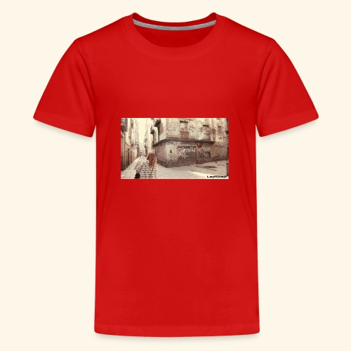 Walking the street - Premium-T-shirt tonåring