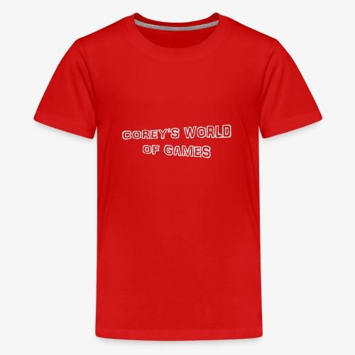 Coreys World Of Games - Teenage Premium T-Shirt