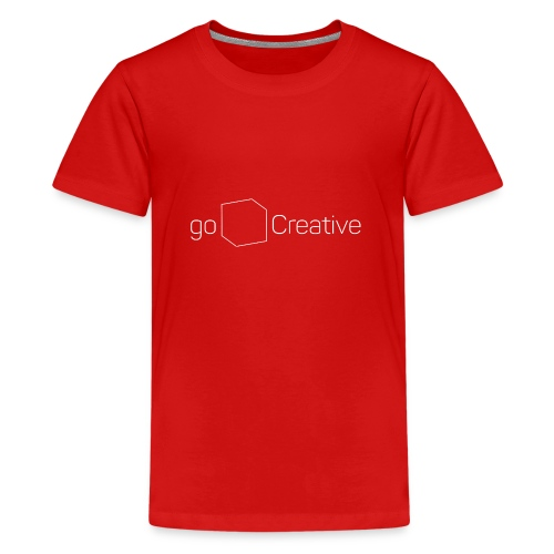 goCreative Logo white - Teenage Premium T-Shirt
