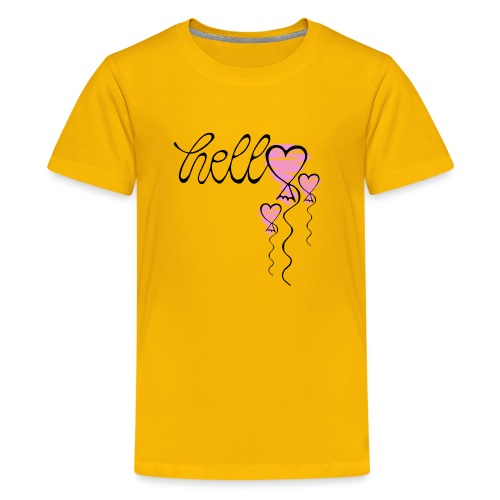 Hello Herzballon - Teenager Premium T-Shirt