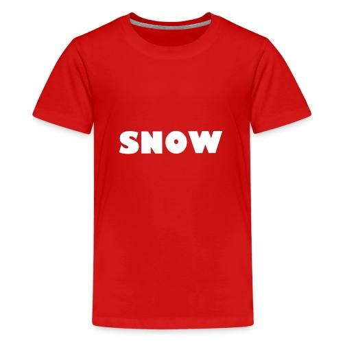 SNOW - Teenager Premium T-Shirt