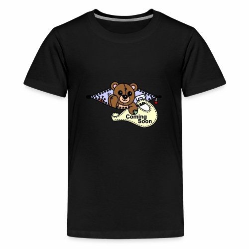 Bärchen Nähmaschine Coming Soon - Teenager Premium T-Shirt