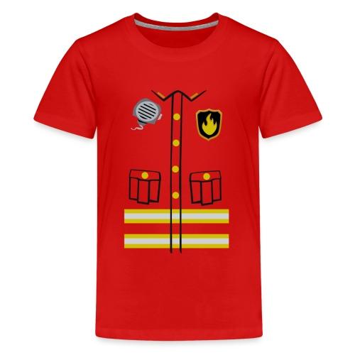 Firefighter Costume - Teenage Premium T-Shirt