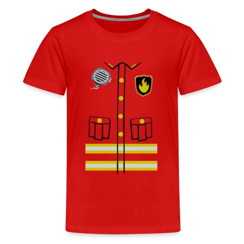 Firefighter Costume - Teenage Premium T-Shirt