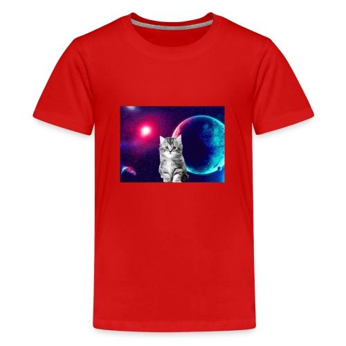 Cute cat in space - Teinien premium t-paita