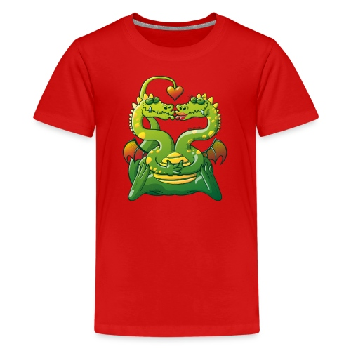 Dragons Madly in Love - Teenage Premium T-Shirt