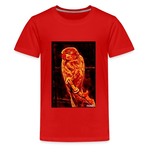 Bird in flames - Teinien premium t-paita