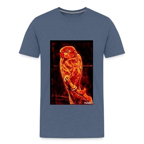 Bird in flames - Teinien premium t-paita