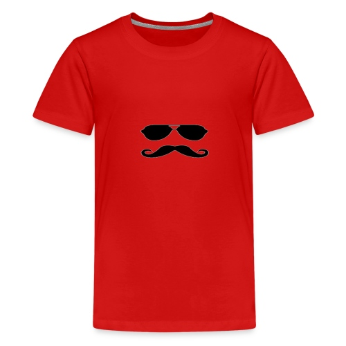Animated Mustache - Premium-T-shirt tonåring