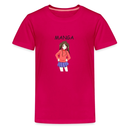 Anime girl 02 Text Manga - Teenager Premium T-Shirt